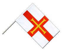 Guernsey - Hand Waving Flag ECO 2x3 ft