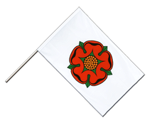 Lancashire red rose - Hand Waving Flag ECO 2x3 ft