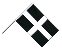 Great Britain St. Piran Cornwall Hand Waver Flag ECO - 2x3 ft