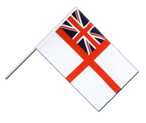 Naval Ensign of the White Squadron - Hand Waving Flag ECO 2x3 ft