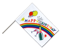 Stockflagge ECO Happy Birthday - 60 x 90 cm