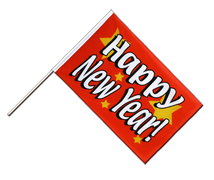 Stockflagge ECO Happy New Year - 60 x 90 cm