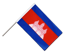 Cambodia Hand Waver Flag ECO - 2x3 ft
