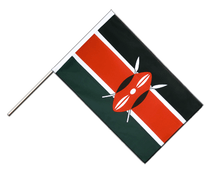 Hand Waving Flag ECO Kenya - 2x3 ft
