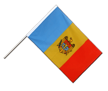 Drapeau République de Moldavie Hampe ECO - 60 x 90 cm