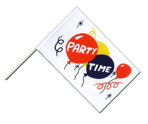 Drapeau Party Time Hampe ECO - 60 x 90 cm