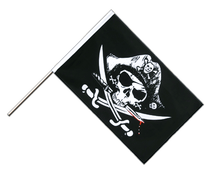 Pirate with bloody sabre - Hand Waving Flag ECO 2x3 ft