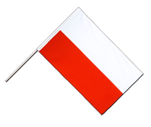 Poland - Hand Waving Flag ECO 2x3 ft