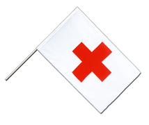 Red Cross Hand Waver Flag ECO - 2x3 ft