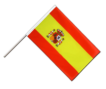 Spain with crest - Hand Waving Flag ECO 2x3 ft