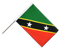 Drapeau Saint-Kitts-et-Nevis Hampe ECO - 60 x 90 cm
