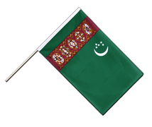 Turkmenistan - Hand Waving Flag ECO 2x3 ft