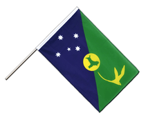 Christmas Island - Hand Waving Flag ECO 2x3 ft
