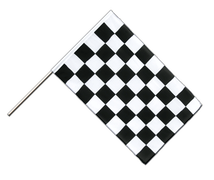 Checkered - Hand Waving Flag ECO 2x3 ft