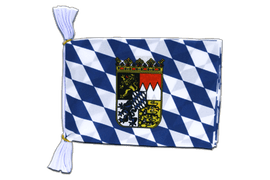 "Bavaria with crest Mini Bunting Flags - 6x9"", 3 m"