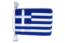"Greece Mini Bunting Flags - 6x9"", 3 m"