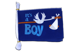 "It's a boy - Mini Flag Bunting 6x9"", 3 m"