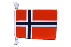 "Norway - Mini Flag Bunting 6x9"", 3 m"