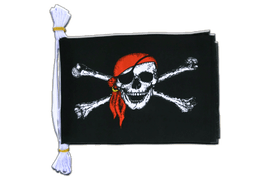 "Pirate with bandana - Mini Flag Bunting 6x9"", 3 m"