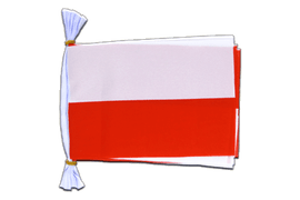 "Poland - Mini Flag Bunting 6x9"", 3 m"