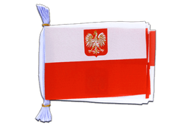"Poland with eagle - Mini Flag Bunting 6x9"", 3 m"