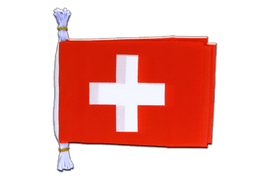 "Switzerland - Mini Flag Bunting 6x9"", 3 m"