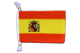 "Spain with crest - Mini Flag Bunting 6x9"", 3 m"