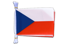 "Czech Republic Mini Bunting Flags - 6x9"", 3 m"