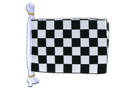"Checkered - Mini Flag Bunting 6x9"", 3 m"