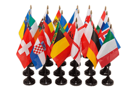 Euro Soccer 2016 - Table Flag Pack 4x6""