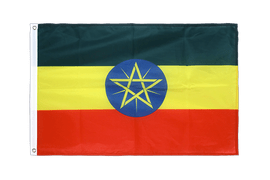 Ethiopia with star - Grommet Flag PRO 2x3 ft