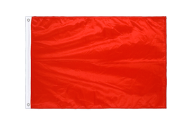 Pavillon Unicolore Rouge Oeillets PRO - 60 x 90 cm