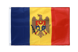 Pavillon République de Moldavie Oeillets PRO - 60 x 90 cm