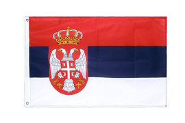 Serbia with crest - Grommet Flag PRO 2x3 ft