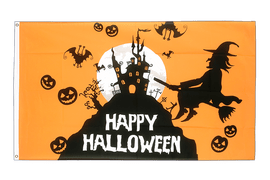 Happy Halloween Orange - Flagge 60 x 90 cm