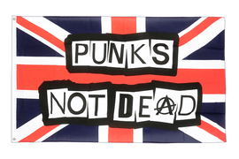 Punks Not Dead - 2x3 ft Flag
