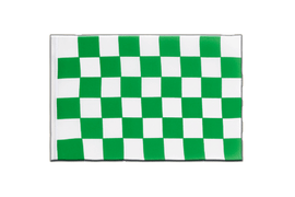 Checkered Green-White - Little Flag 6x9""