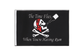 Pirate The Time Flies When You Are Having Fun - Little Flag 6x9""
