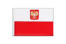 Poland with eagle - Little Flag 6x9""