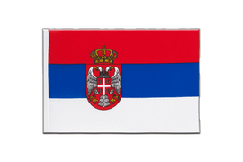Serbia with crest - Little Flag 6x9""