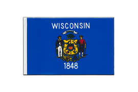 Wisconsin - Little Flag 6x9""
