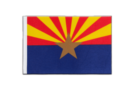 Drapeau en satin Arizona - 15 x 22 cm