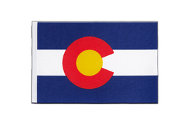 Drapeau en satin Colorado - 15 x 22 cm