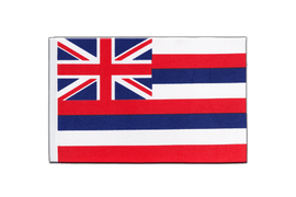 Drapeau en satin Hawaii - 15 x 22 cm