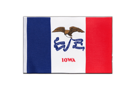 Iowa - Satin Flag 6x9""