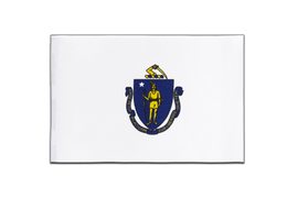 Massachusetts - Satin Flagge 15 x 22 cm