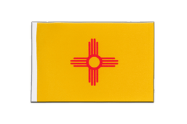 Drapeau en satin New Mexico - 15 x 22 cm