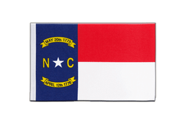 Drapeau en satin North Carolina - 15 x 22 cm