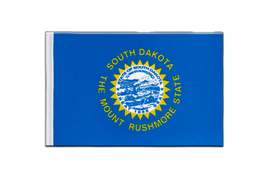 South Dakota - Satin Flagge 15 x 22 cm