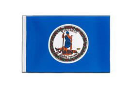 Virginia - Satin Flagge 15 x 22 cm